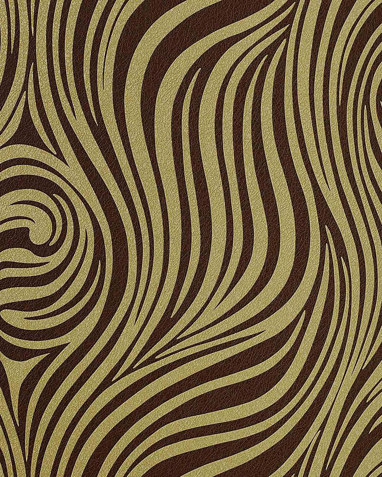 Neo Behang Met Zebra Strepen Edem   Olijf Groen Bruin Origineel Edem Bij Profhome Nl