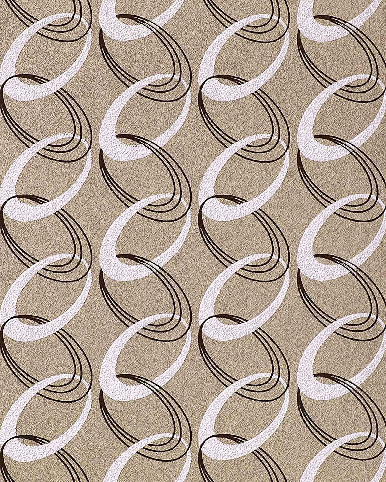fashion retro rings wallpaper wall textured 70s style edem. Black Bedroom Furniture Sets. Home Design Ideas