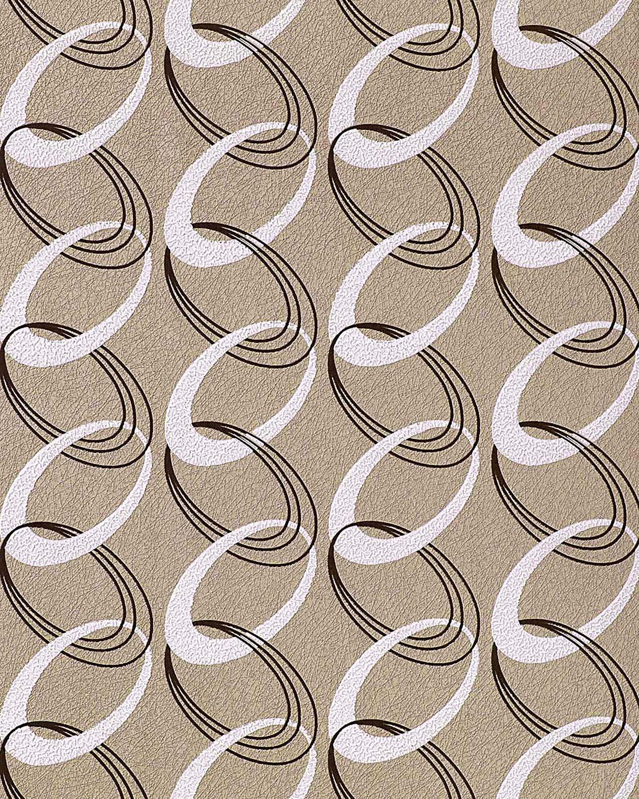 retro tapete edem 1017 13 retrotapete 70er jahre retro rings tapete ketten muster hochwaschbare. Black Bedroom Furniture Sets. Home Design Ideas