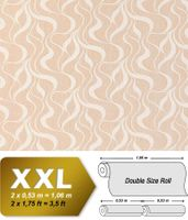Wave stripes wall wallpaper EDEM 699-93 Wall covering non-woven stripes textured pattern brown-beige nature white