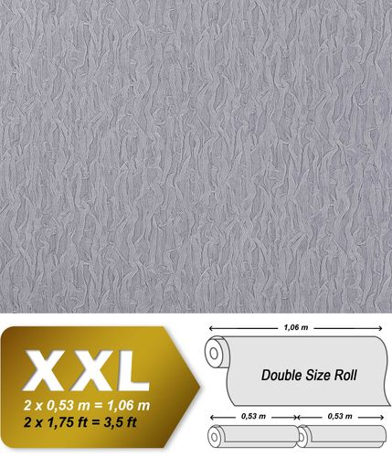Luxury wallpaper wall heavyweight non-woven EDEM 930-37 Wall covering fabric textile look blue-lilac silver shimmer  – Bild 1