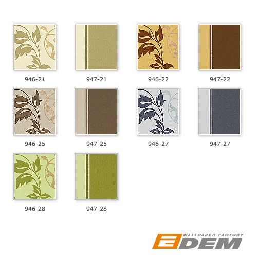 Luxury floral wallpaper wall non-woven EDEM 946-27 Wall covering classic leaf decor light grey sapphire blue silver  – Bild 4