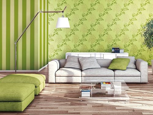 Luxury floral wallpaper wall non-woven EDEM 946-28 Wall covering classic leaf decor yellow-green apple green gold  – Bild 2