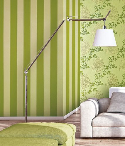 Stripe block non-woven wallpaper wall EDEM 947-22 Luxury wallcovering style decor mustard yellow green-beige  – Bild 3