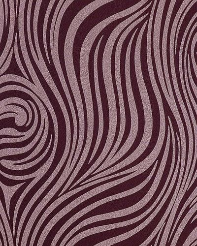 Fashion zebra style wallcovering wall wallpaper EDEM 1016-14 texture striped vinyl extra washable violet light lilac – Bild 1