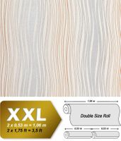 Abstract textured bended stripes wallpaper EDEM 695-91 wallcovering non-woven cream silver grey brown