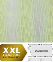 Abstract textured glitter stripes wallpaper wall non-woven covering EDEM 695-95 light green silver olive  001