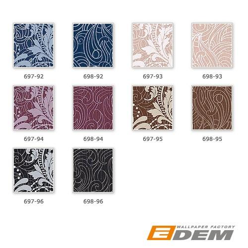 Barock Vliestapete EDEM 698-96 XXL Design Imperial  Versailles Paisley Metallic-Muster anthrazit silber | 10,65 qm – Bild 4