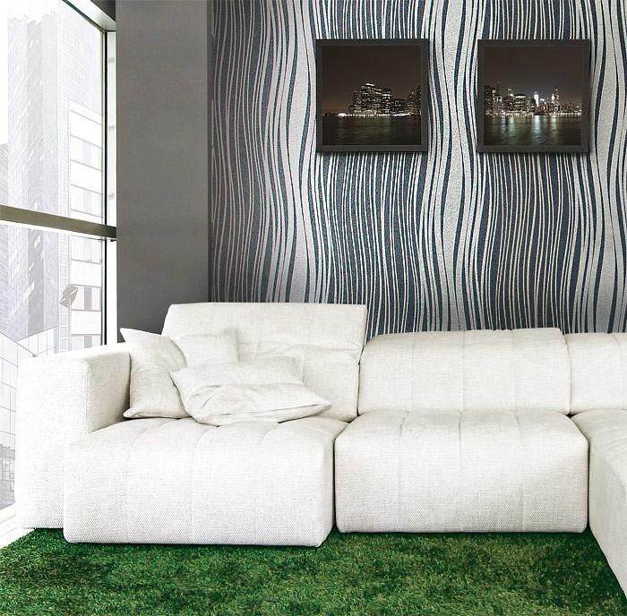 streifen tapete vliestapete edem 695 94 designer tapete. Black Bedroom Furniture Sets. Home Design Ideas