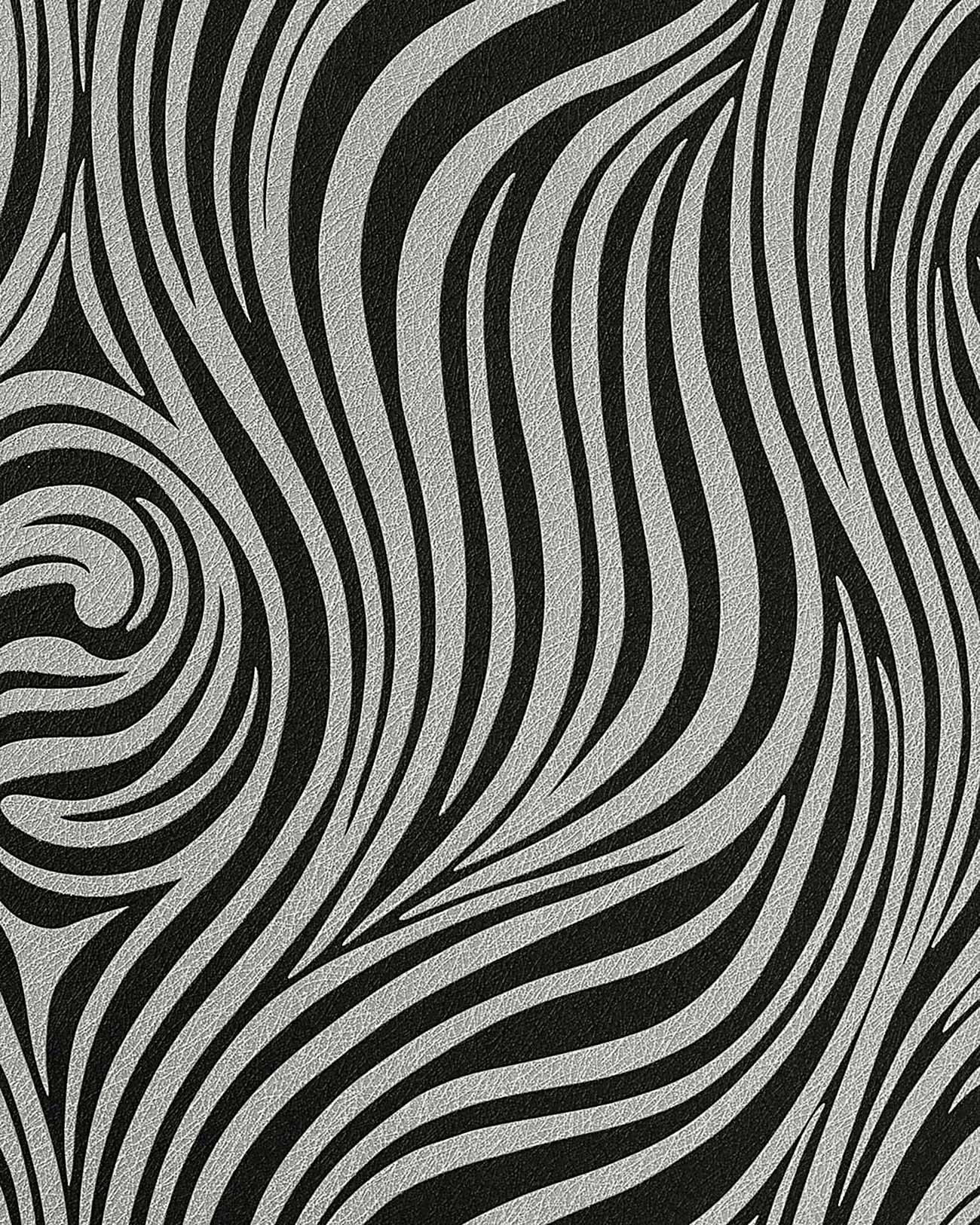 Neo behang met zebra strepen edem 1016 16 zwart antraciet zilver grijs origineel edem bij - Behang zebra ...