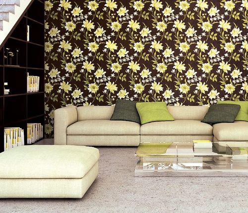 Blumen Tapete Vliestapete Landhaus Tapete EDEM 900-15 Floral hochwertige Textiloptik braun altrosa weiß grau 10,65 qm – Bild 2