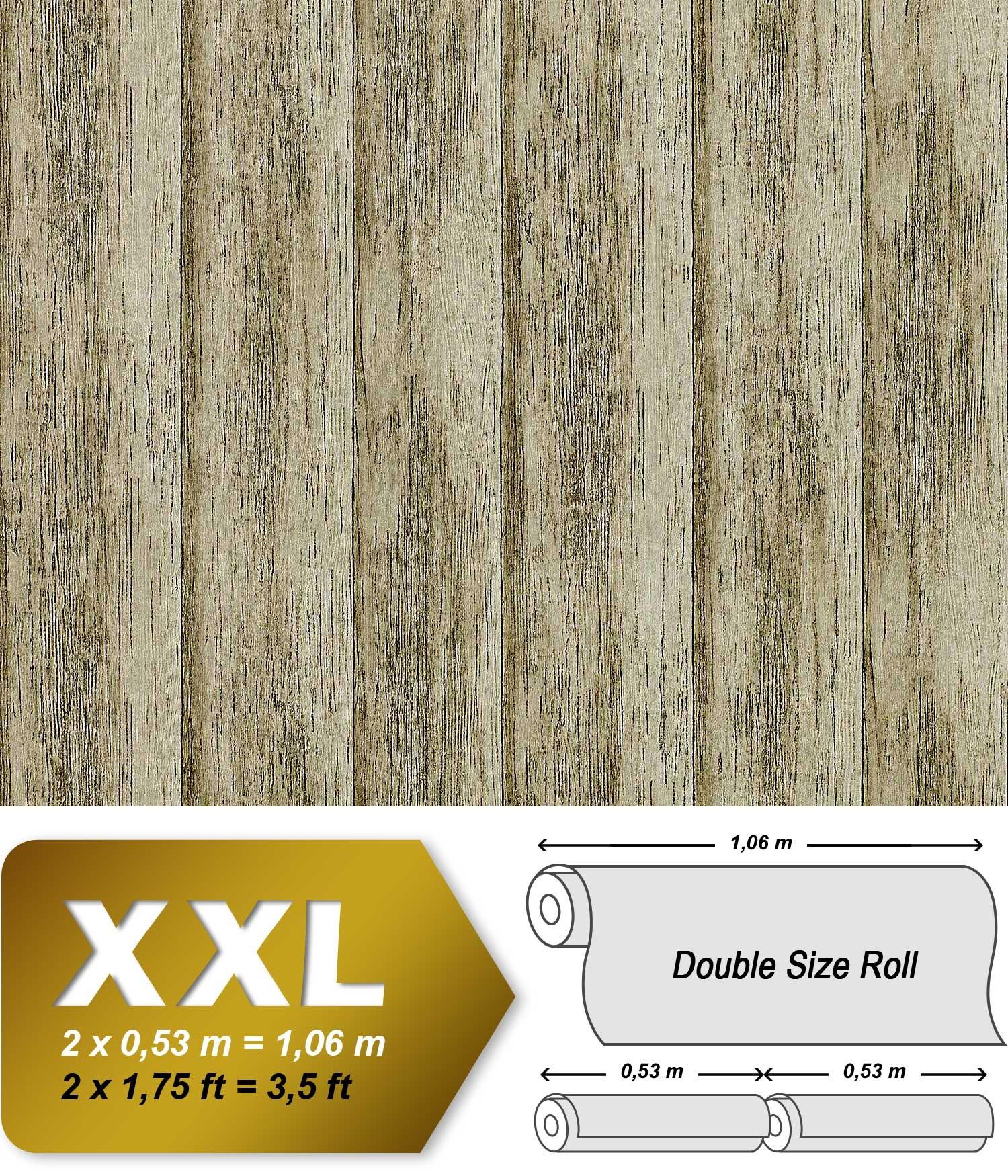 Fantastisch Holz Tapete Vliestapete EDEM 944 28 Shabby Chic Geprägte Tapete In  Holzoptik Holzdielen Vintage Grün