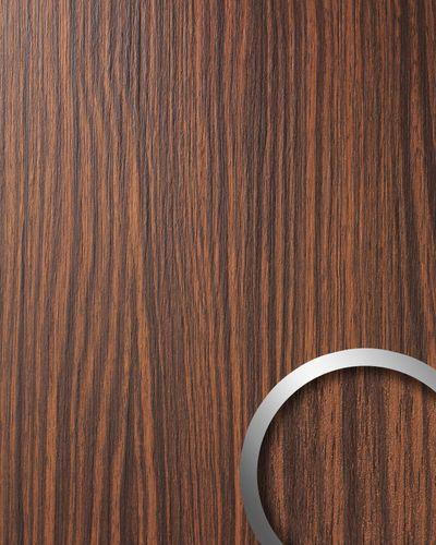 Panel decorativo autoadhesivo WallFace 12441 WOOD MAKASSAR de diseño ébano con relieve marrón medio y oscuro 2,60 m2  – Imagen 1