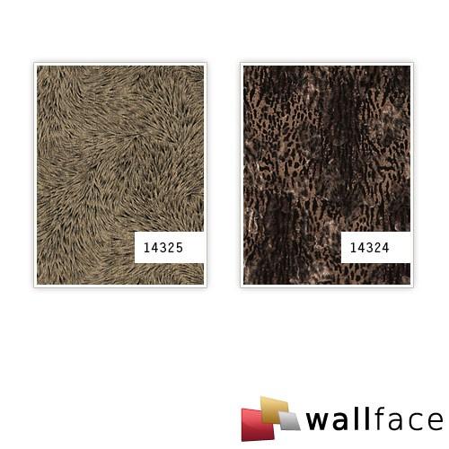 Wandbekleding panelen binnen shabby chic bont WallFace 14324 PELZ SAVANNA paneel zelfklevend zwart bruin 2,60 m2 – Bild 3