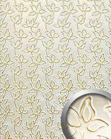 Wandpaneel 14790 FLORAL ALISE Barock Floral Leder 3D Optik Gold Weiß