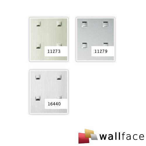 SQUARE Wallcovering metal look 3D decor rivets WallFace 11273 decor paneling self-adhesive stainless steel grey 2,6 sqm – Bild 2