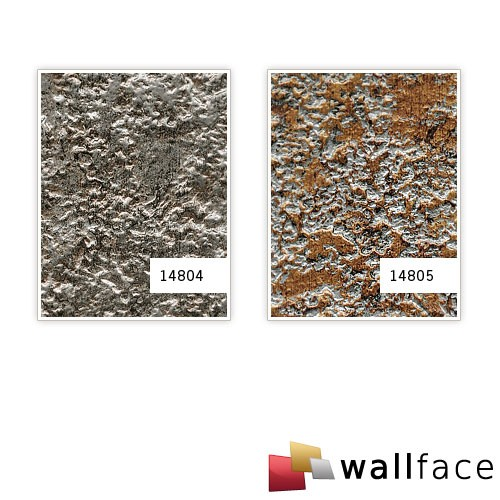 Desing paneling textured stone decor interior panel WallFace 14804 LAVA wall panel self-adhesive grey silver 2,60 sqm – Bild 3