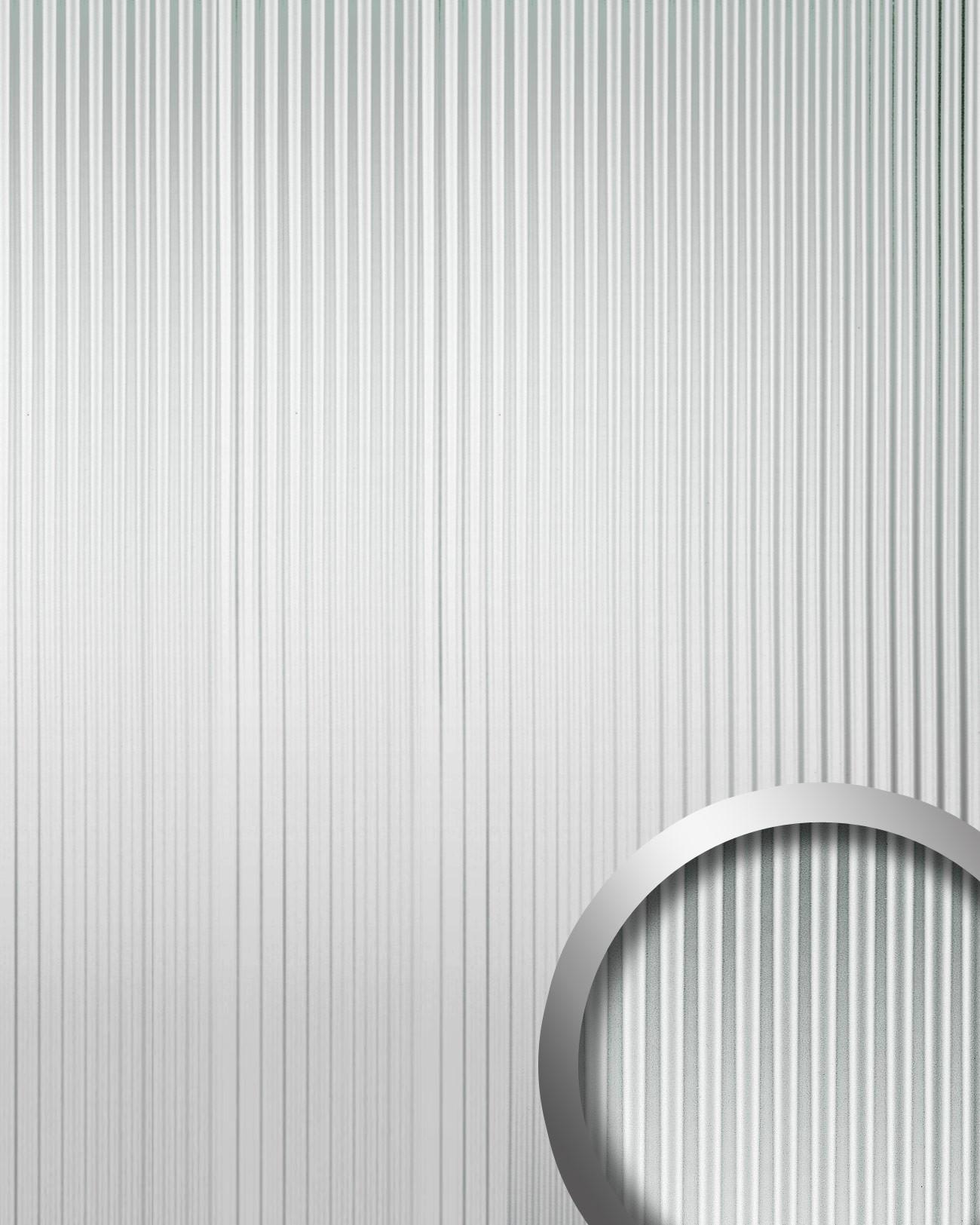 wallface 11360 wave pannello effetto 3d lamiera metallica argento 2 60 mq ebay. Black Bedroom Furniture Sets. Home Design Ideas