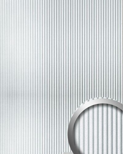Design revêtement mural auto-adhésif WallFace 11355 WAVEStyle métal rainurée ondulée argent effet métallisé 2,60 m2 – Bild 1