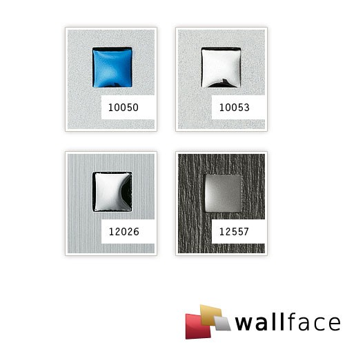 Wall paneling square hole punched wood look WallFace 12557 3D QUAD design paneling self-adhesive grey silver 2,60 sqm – Bild 3