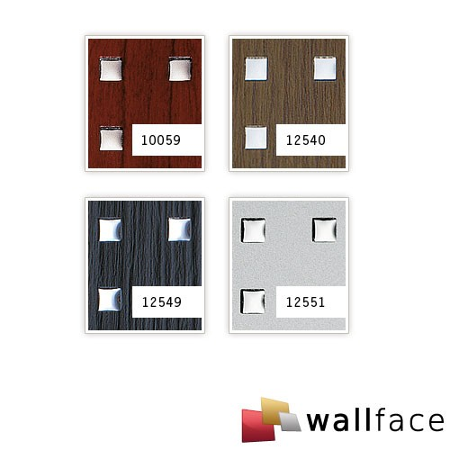 Design paneling square hole punched decor wood look WallFace 10059 3D QUAD wallcoverings self-adhesive mahogany 2,60 sqm – Bild 4