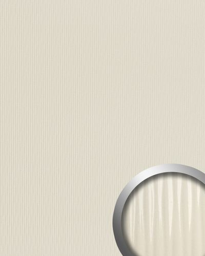 3D Wall panel WallFace 15954 MOTION ONE wave textured decor self-adhesive creme 2,60 sqm – Bild 1