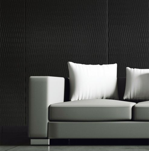 3D Wall panel WallFace 15956 MOTION ONE wave textured decor self-adhesive black 2,60 sqm – Bild 3