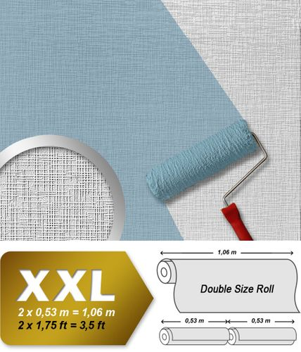 Wallcovering non-woven wallpaper wall EDEM 350-60 XXL paintable deco textured white