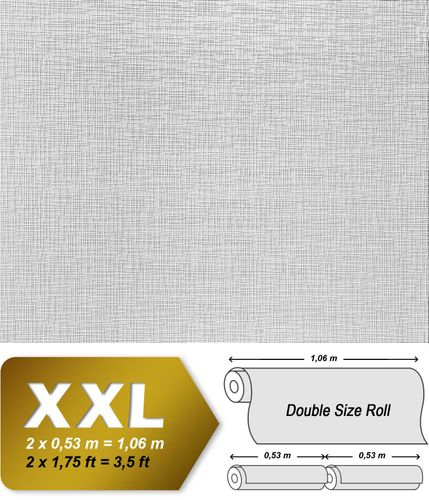 Wallcovering non-woven wallpaper wall EDEM 350-60 XXL paintable deco textured white  – Bild 2