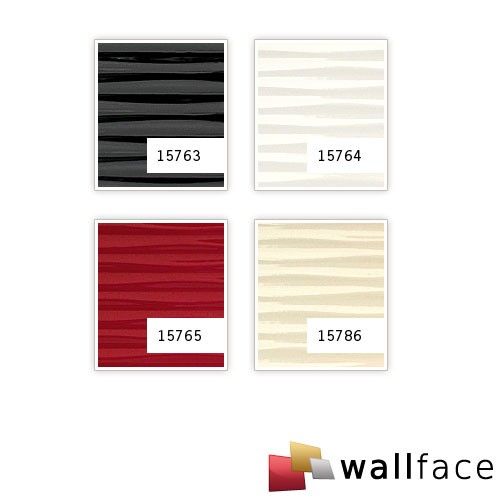 Design paneling wallcovering 3D WallFace 15763 MOTION TWO wave textured decor self-adhesive black 2,60 sqm – Bild 4
