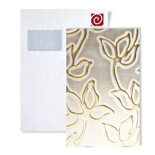 1 MUSTERSTÜCK S-14790-SA WallFace ALISE WHITE/GOLD Leather Collection | Wandpaneel MUSTER in ca. DIN A4 Größe – Bild 1