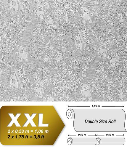 Wallcovering non-woven wallpaper wall EDEM 361-60 paintable Wallcovering kids childrens textured XXL  – Bild 2