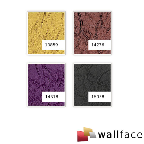 1 MUSTERSTÜCK S-14276-SA WallFace CREPA AUBERGINE Leather Collection | Dekorpaneel MUSTER in ca. DIN A4 Größe – Bild 4
