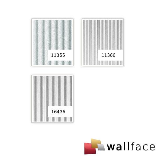 1 ÉCHANTILLON S-11355-SA WallFace WAVE SILVER MET Structure Collection | ÉCHANTILLON panneau mural au format A4 – Bild 3