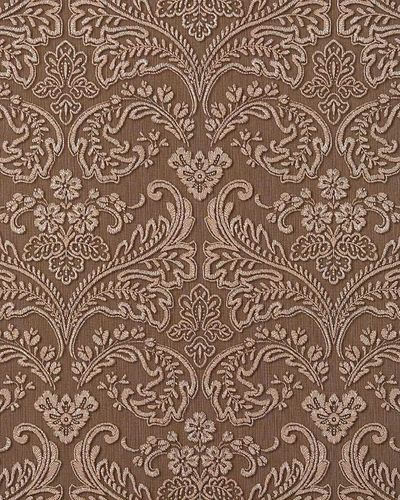 Stripe baroque wall covering EDEM 755-25 wallpaper wall deluxe heavy-weight vinyl damask nut-brown platin  – Bild 1