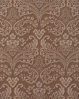 Stripe baroque wall covering EDEM 755-25 wallpaper wall deluxe heavy-weight vinyl damask nut-brown platin  001