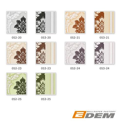 Papier peint néo-baroque EDEM 053-20 Design ornement rayé flockage noir blanc gris clair | 5.33 m2 – Bild 2
