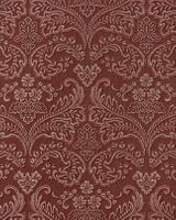 Stripe baroque wall covering EDEM 755-26 wallpaper wall deluxe heavy-weight vinyl damask orient-red platin  001