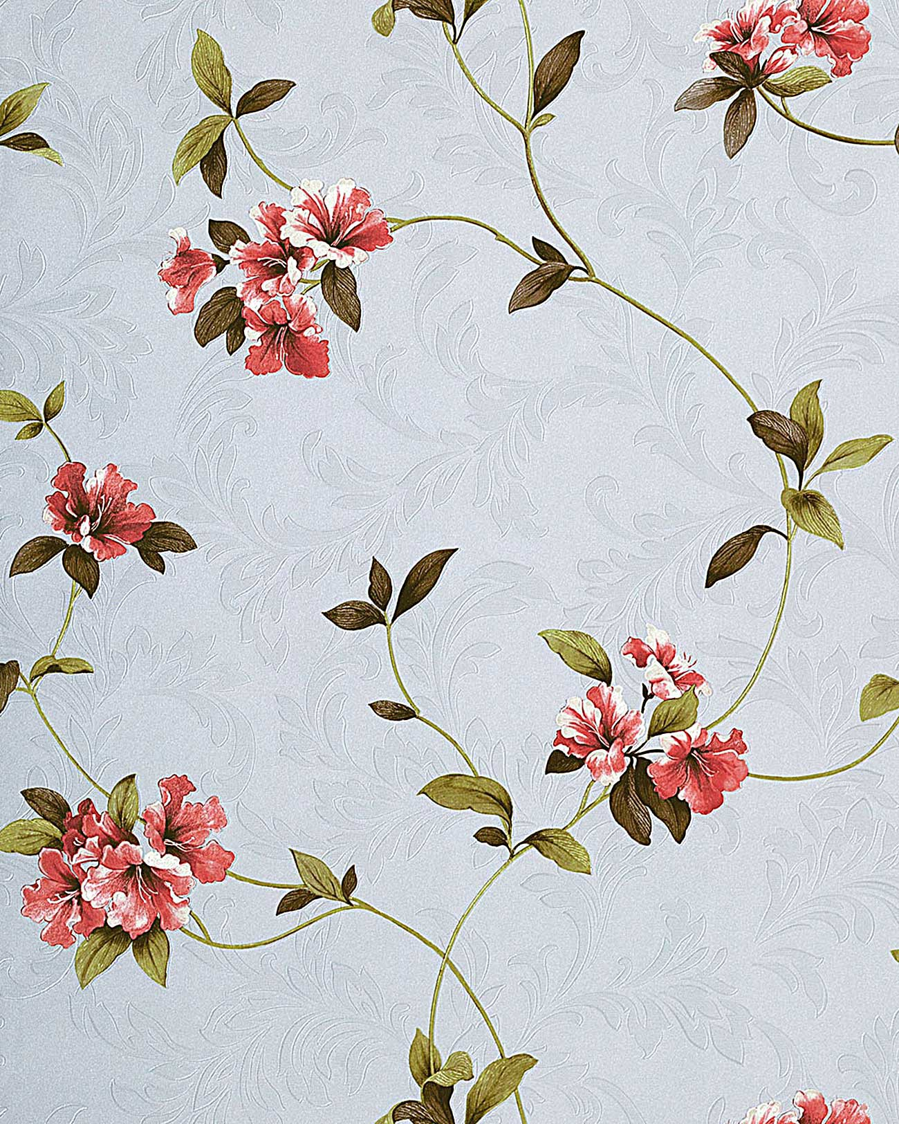 papier peint motif floral edem 761 25 lilas clair lavande rouge vert brun m2. Black Bedroom Furniture Sets. Home Design Ideas