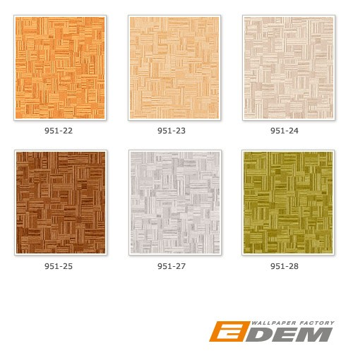 Embossed bamboo non-woven wallcovering EDEM 951-22 Wallpaper wall deluxe wood look mosaic decor light brown  – Bild 3
