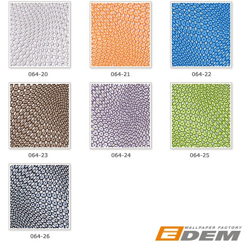 3D graphical wallcovering wallpaper wall abstract retro EDEM 064-22 vinyl pattern metal look blue silver  – Bild 4