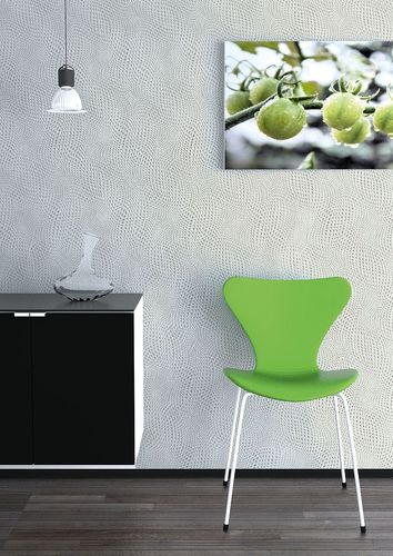 3D graphical wallcovering wallpaper wall abstract retro EDEM 064-25 pattern metal look green grey silver  – Bild 3