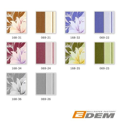 Papel pintado texturado diseño rayas gruesas EDEM 069-25  finas verde musgo verde claro blanco plata glitter – Imagen 4