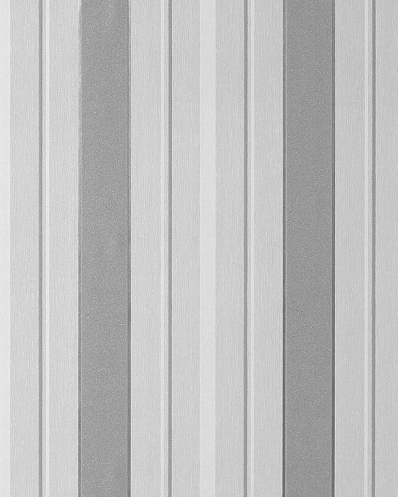 Papel pintado texturado dise o rayas gruesas edem 069 26 - Papel pintado blanco y plata ...