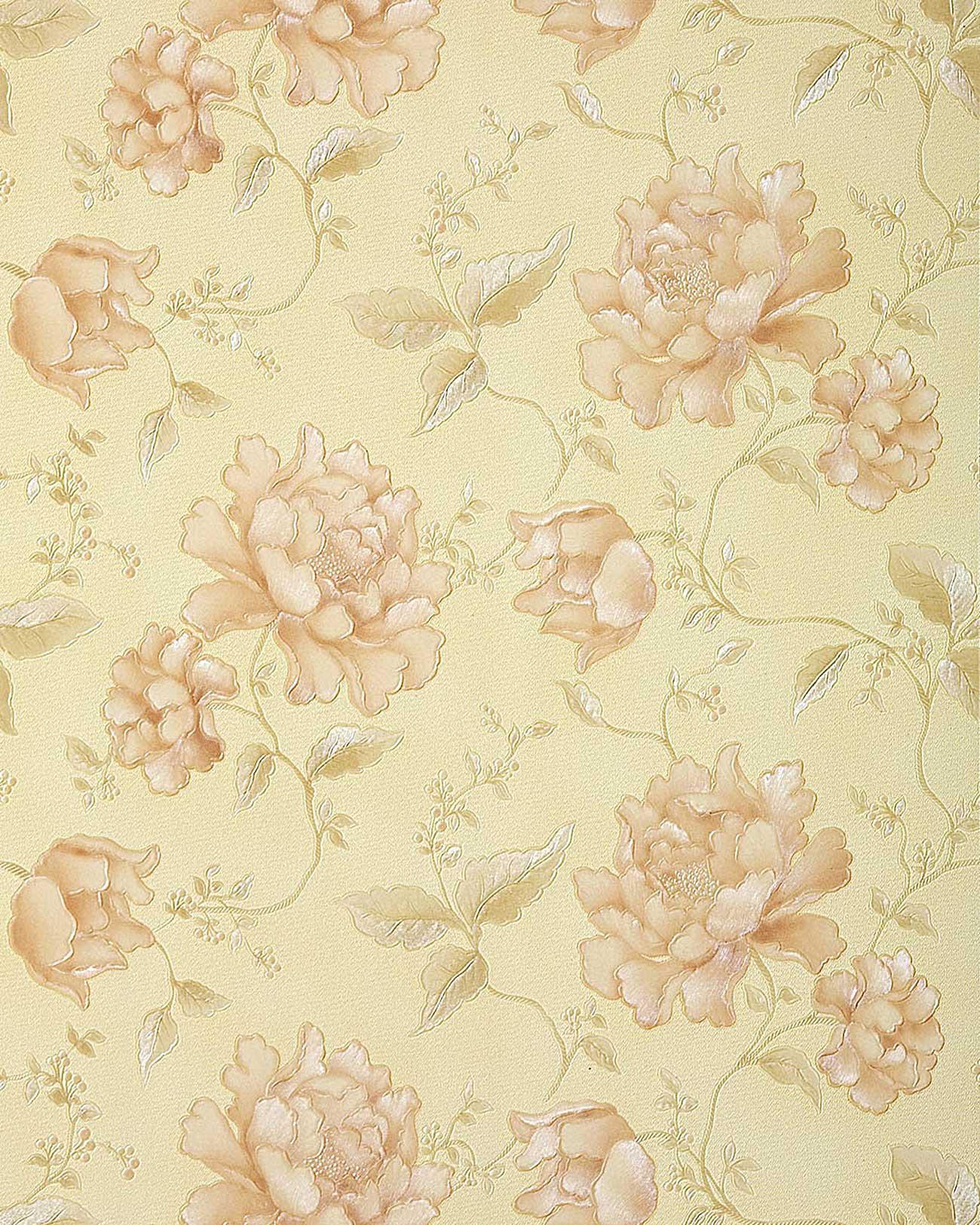 Carta da parati goffrata a fiori in 3d edem 748 31 in for Carta da parati beige