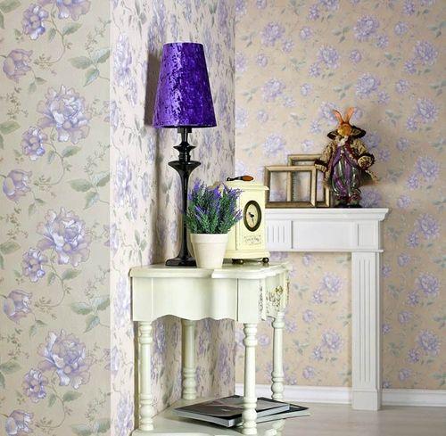 Embossed heavy-weight vinyl luxury wallcovering floral EDEM 748-31 flowers wallpaper wall ivory beige rose platin  – Bild 4