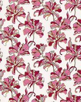 Flowers textured wall covering floral EDEM 072-24 wallpaper vinyl cream pink red-violet white