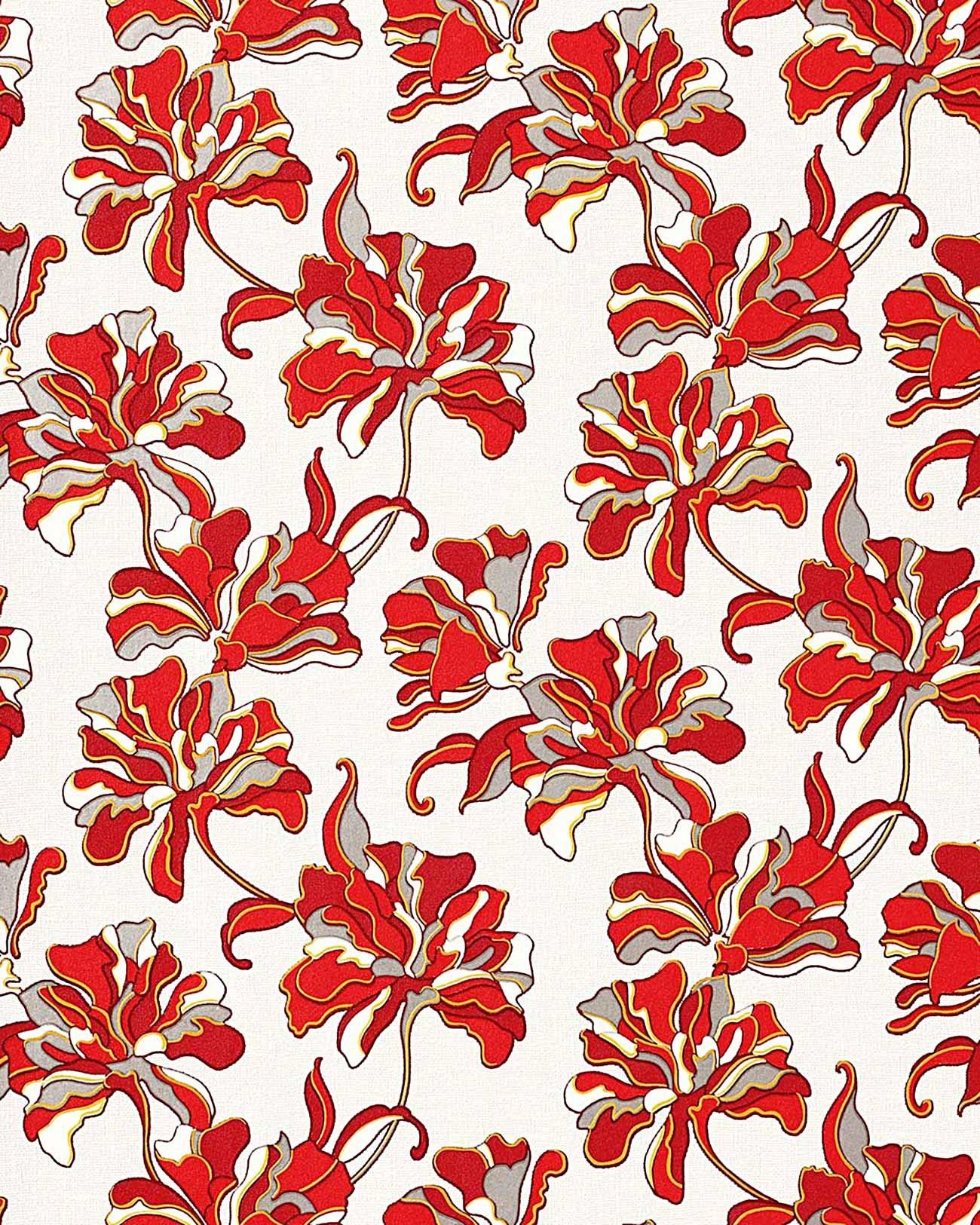 Flowers Textured Wall Covering Floral Edem 072 26 Wallpaper Vinyl
