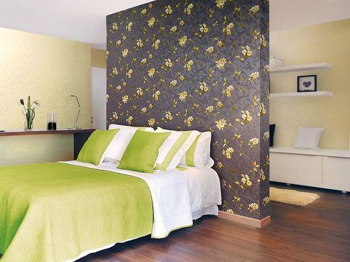 Papier peint motif floral EDEM 761-26 gris foncé gris ardoise jaune vert vert olive | 5.33 m2 – Bild 2
