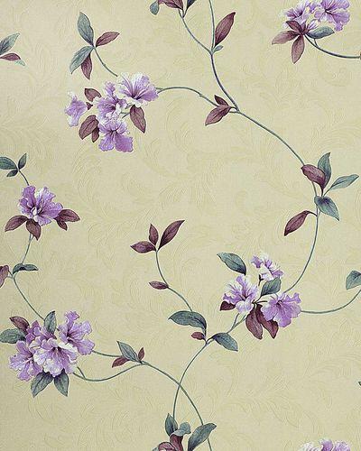 Papier peint motif floral EDEM 761-27 crème beige lilas clair violet bleu 5.33 m2 – Bild 1
